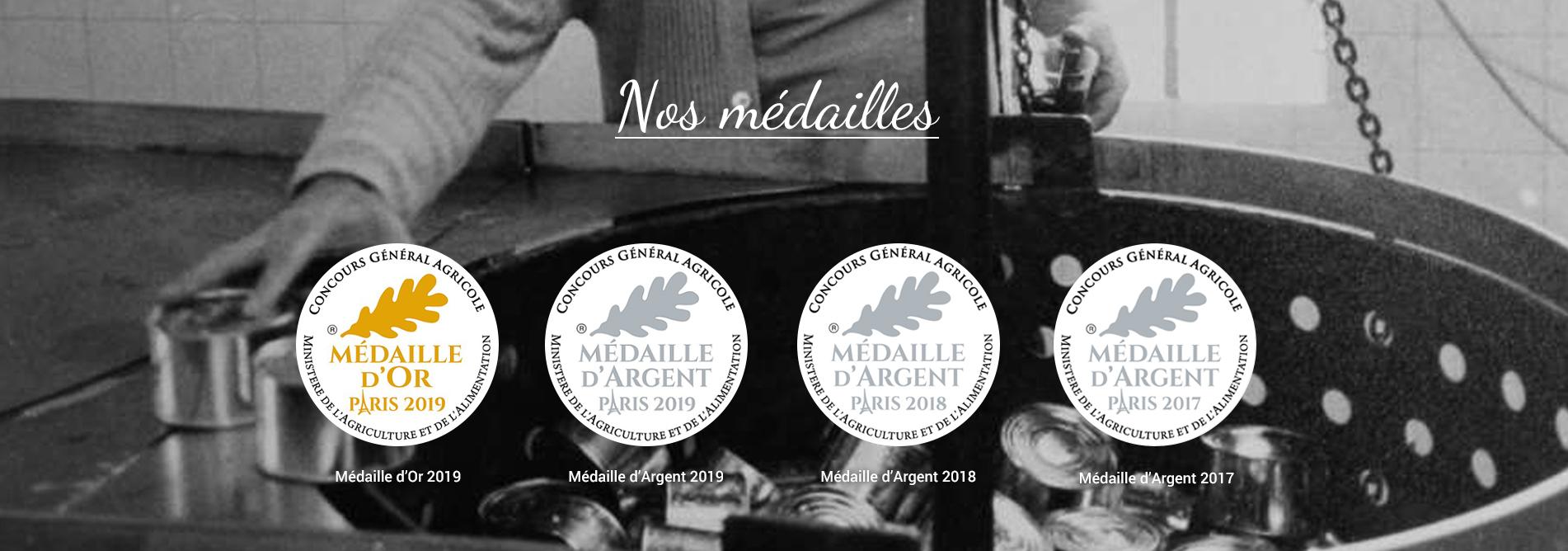 Nos médailles